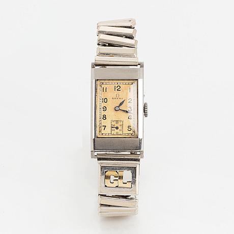Omega, wristwatch, 19,5 x 31 mm.