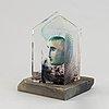 Bertil vallien, a glass sculpture, numbered 8bv att 999021/500, and signed  b. vallien.