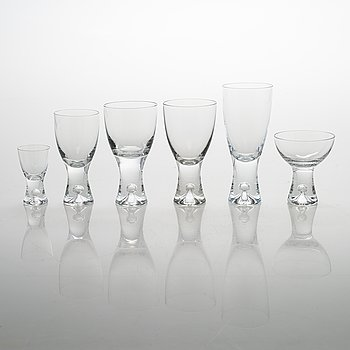 Tapio Wirkkala, A 50-piece set of 'Tapio' glassware for Iittala, Finland, model 2101.