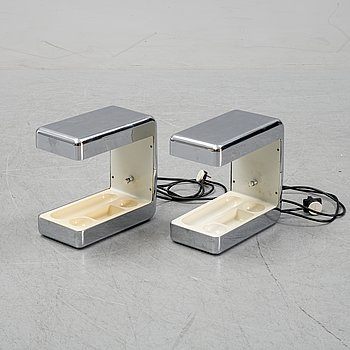 Giotto Stoppino, a pair of table lamps, 'Isos' for Tronconi, 1970s.