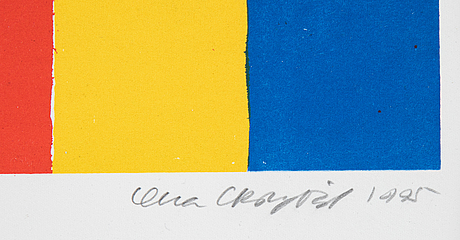 Lena cronqvist, litograph in colours, signed and dated 1995, numbered 274/275.