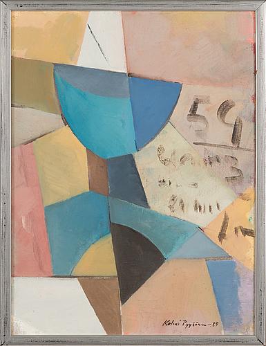 Kalevi pyykönen, oil on canvas, signed and dated -89.