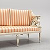 A late gustavian style sofa from ca year 1900.