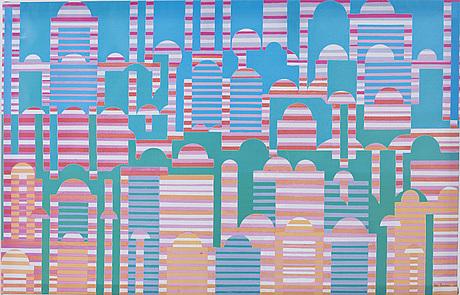 Mari rantanen, screen printing on canvas, from the ikea art event series.