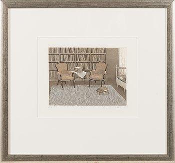 Elina Luukanen, etching and aquatint, signed and dated -01, numrerad 66/80.