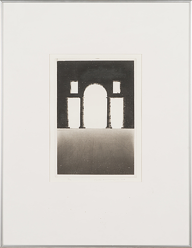 Pentti lumikangas, aquatint and dry point, signed and dated -87, numbered 80/99.