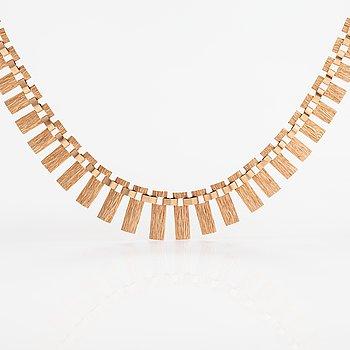 A 14K gold necklace. Westerback, Helsinki 1967.