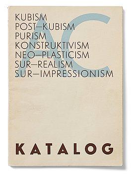 490. Exhibition catalogue, edited by Otto G. Carlsund, Stockholmsutställningen (Stockholm Exhibition), 1930.