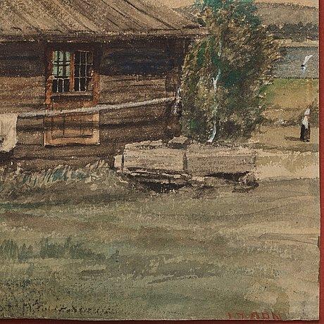 """Anders zorn, """"morastuga"""" (cottage in mora, sweden)."""