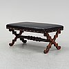A rosewood bench, late 19th century.