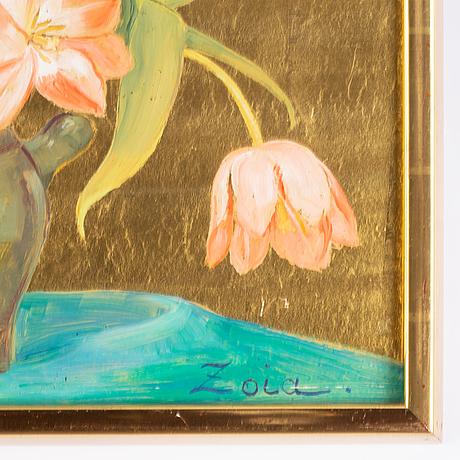 Zoia krukovskya lagerkrans, öljy levylle, signeerattu.