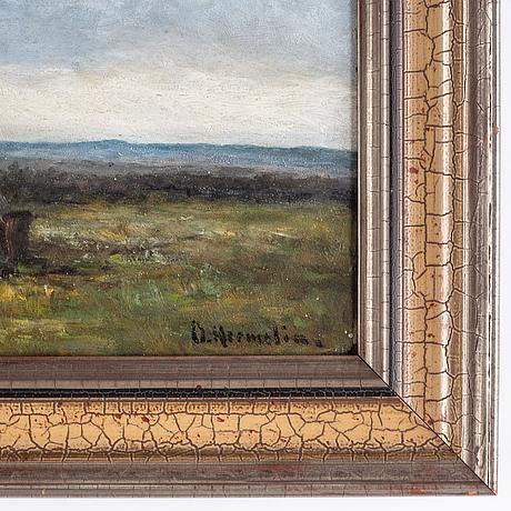 Olof hermelin, oil on panel, signed.