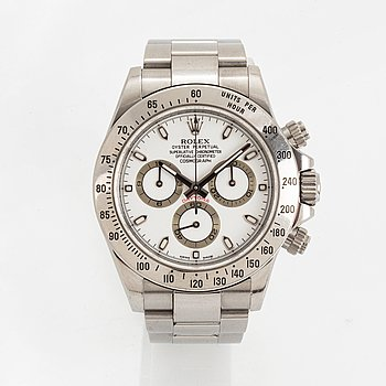 Rolex, Oyster Perpetual, Cosmograph, Daytona, Chronometer, wristwatch, chronograph, 40 mm.