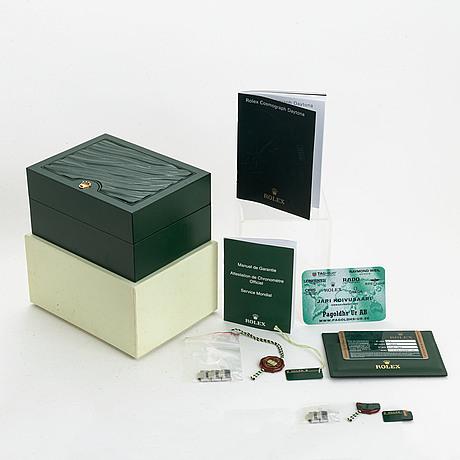 Rolex, oyster perpetual, cosmograph, daytona, chronometer, wristwatch, chronograph, 40 mm.