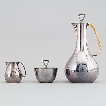 Sigard Bernadotte, kaffeservis, silver, 3 delar, Georg Jensen,