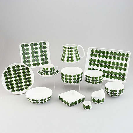 Stig lindberg, a 'berså' part dinner and coffee service, gustavsberg (24 pieces).