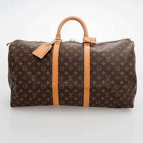 Louis vuitton, a monogram canvas 'keepall 55' bag.