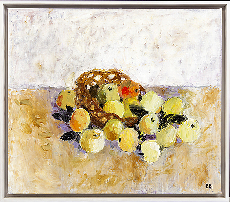 Bente bjerregaard, oil on canvas signed and dated 2007.