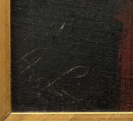 Amalia lindegren, olja på duk signerad.