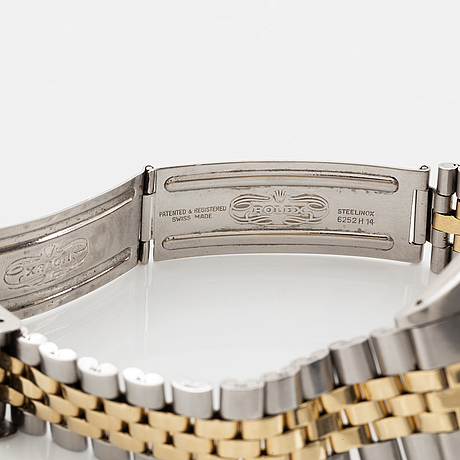 """Rolex, oyster perpetual, datejust, """"sigma dial"""", wristwatch, 36 mm."""