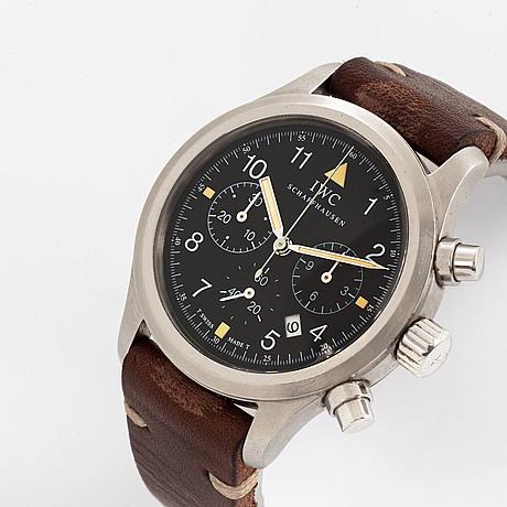 Iwc, schaffhausen, fliegerchronograph, wristwatch, chronograph, 36,5 mm.