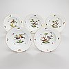 A 14-piece set of herend 'rotchild bird' porcelain tableware, hungary 1970s-1980s.