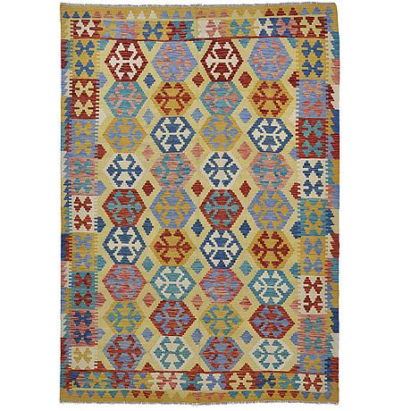 A carpet, kilim 295 x 211 cm.