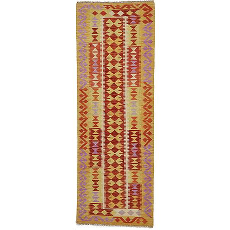 Gallerimatta, kelim, ca 207 x 73 cm.