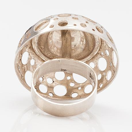 "Liisa vitali, a sterling silver ring ""nuppu"". westerback, helsinki 1971."