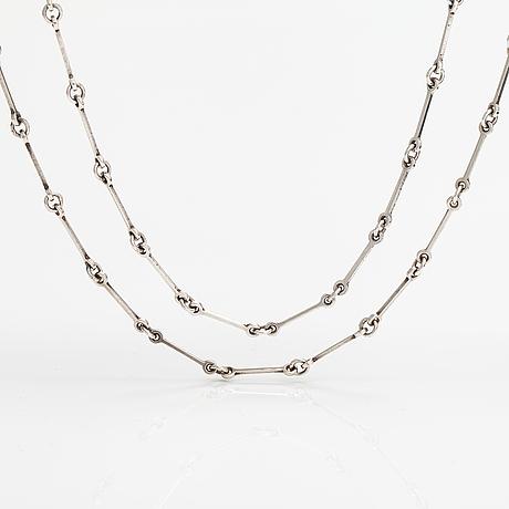 Halsband, 2 st, sterlingsilver. lapponia 1976 och 1978.