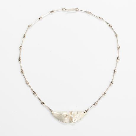 """Björn weckström, a sterlingsilver necklace """"styx"""". lapponia 1997."""