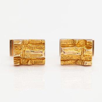Björn Weckström, A pair of 14K gold cufflinks. Lapponia 1983.