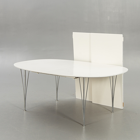 "Bruno mathsson & piet hein,  table, ""superellips"", fritz hansen 1989."