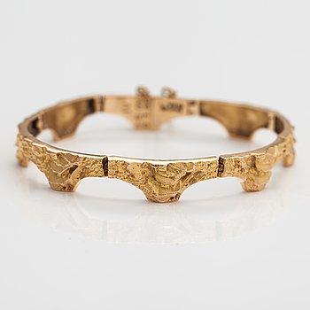 "Björn Weckström, A 14K gold bracelet ""Golden bridge"". Lapponia 1986."