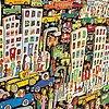 James rizzi färglitografi signerad daterad och numrerad 13/350 2006.