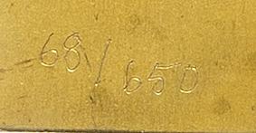 Barbro bäckström, sculpture signed, numbered 68/650.