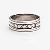 A 14k white gold ring with diamonds ca. 0.15 ct in total.
