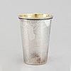 A parcel-gilt silver beaker. mark of sven arne gillgren, gab, stockholm 1973.