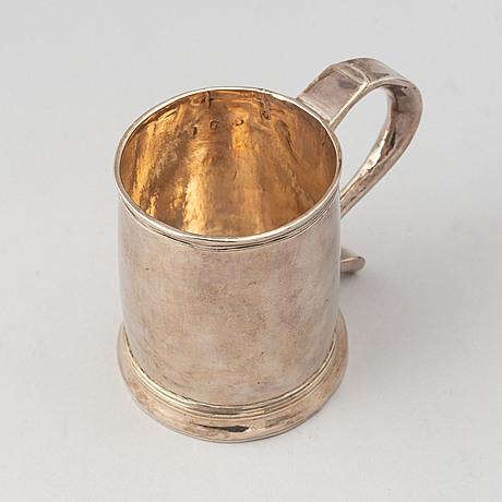 A silver tankard, mark of joseph clare i, london 1719.