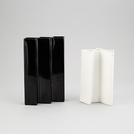 Two stoneware vases by karin björquist, gustavsberg. possibly prototypes.