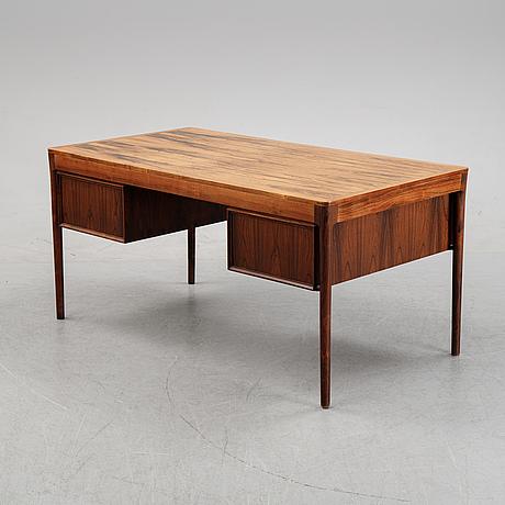 Torbjørn afdal, a rosewood desk from haug snekkeri a/s, bruksbo, norway, 1960's.