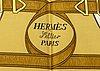"Hermès, scarf,  ""eperon d'or""."