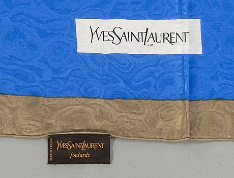 Yves saint laurent, scarf, silk.