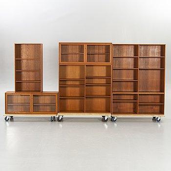 Alf Svensson, Good furniture, Bookcase, teak, 6 parts, 1960s.