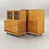 """Børge mogensen, """"öresund"""", bookshelf / sideboard, 4 parts, 1960s, oak."""