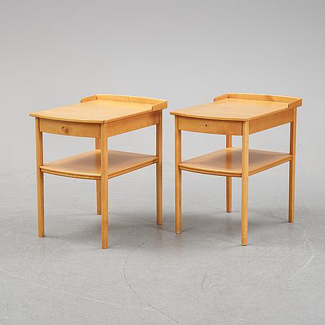 """Carl malmsten, sängbord, ett par, """"birgitta"""", bodafors, 1900-talets andra hälft."""