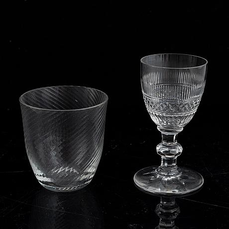 A glass service, 45 pcs baccarat france, 20th century.