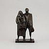 Eric elfwén, skulptur, brons, monogramsignerad ee.