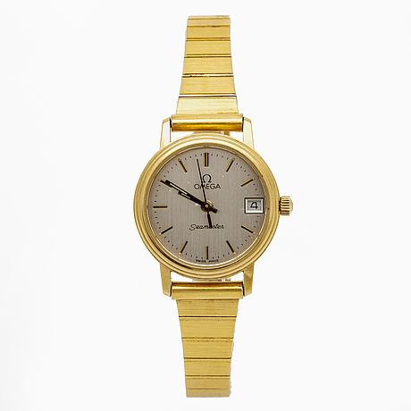 Omega, seamaster, wristwatch 22 mm.
