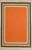 Ingegerd silow, a carpet, flat weave, ca 207 x 137,5 cm, signed is.